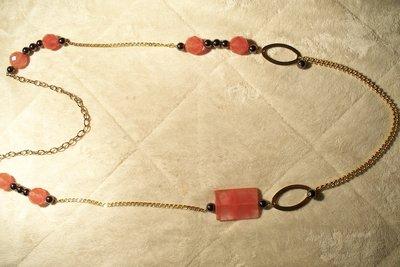 Collana modello chanell con quarzo cherry ed ematite