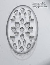 Traforo Ovale Plexiglass bijoux fai da te