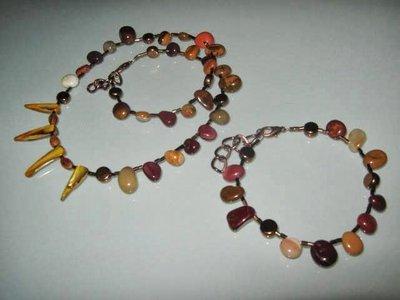 art 232 collana e bracciale uomo-unisex in moakiti e argento tibetano anallergico