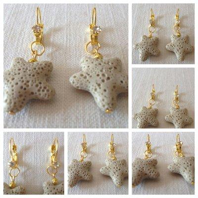 orecchini con pietra lavica