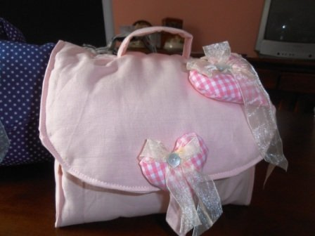 Beauty case rosa, porta creme, da bimba