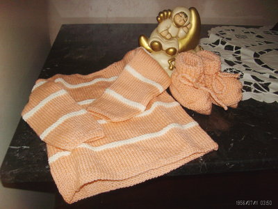 maglia baby in pura lana taglia 3 mesi + scarpine