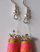 orecchini cono rosa choc