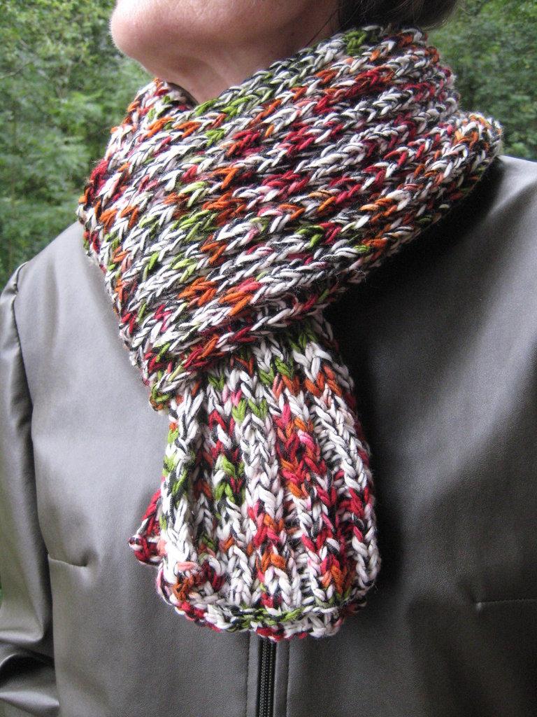 Sciarpa in lana melange unisex