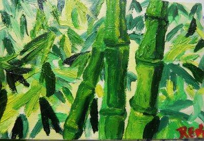 Pittura ad olio su cartone telato 10x15 cm