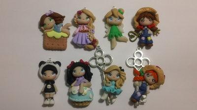 8 bamboline in fimo