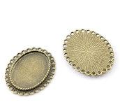 Ciondoli Basi per Cammeo Cabochon Ovale Colore Bronzo