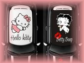 adesivi-decals tettuccio auto hello kitty betty boop