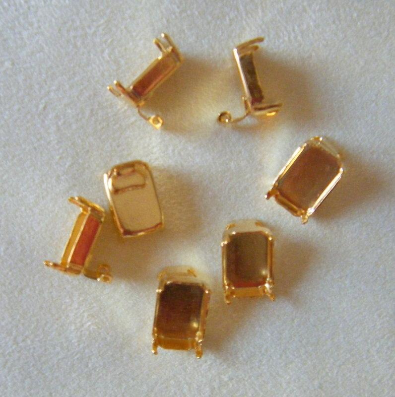 base per orecchini  9 x 13 mm