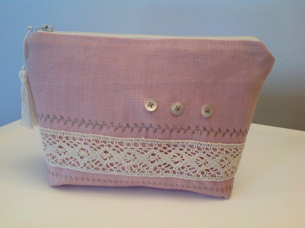Bustina lino rosa
