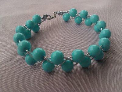 bracciale con perline turchesi
