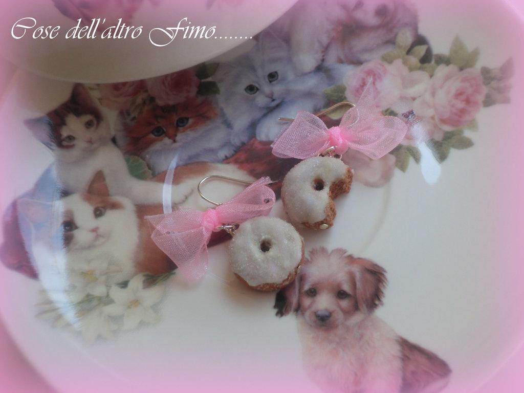 Orecchini Donuts Glassati Rosa