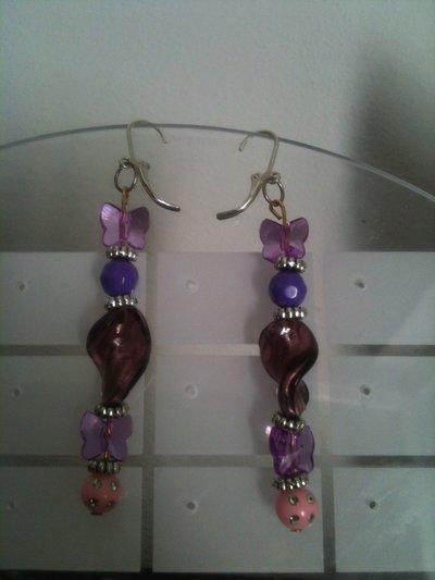"""orecchini """"Purple Butterfly"""""""