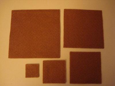 Set fustellati in feltro forma: quadrato 5 pezzi