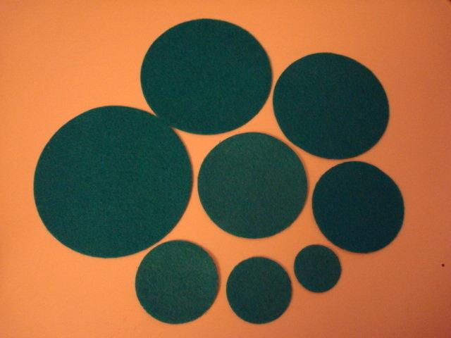 Set fustellati in feltro forma: cerchio 8 pezzi