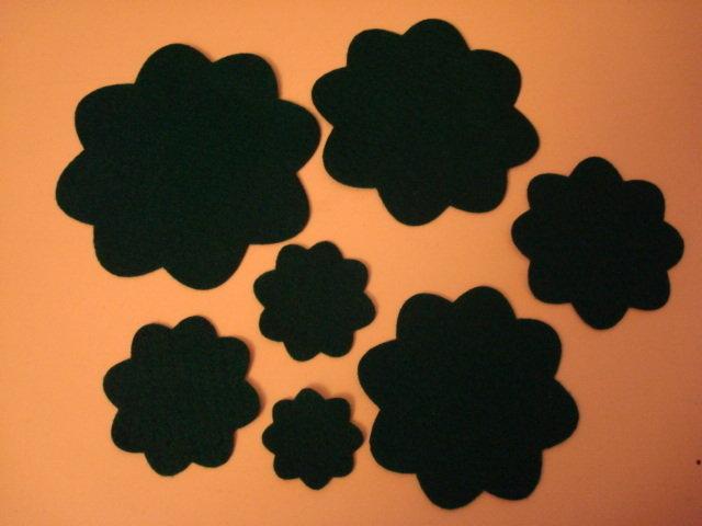 Set fustellati in feltro forma: fiore 8 petali 5 pezzi