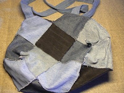 Borsa in Jeans stile patchwork