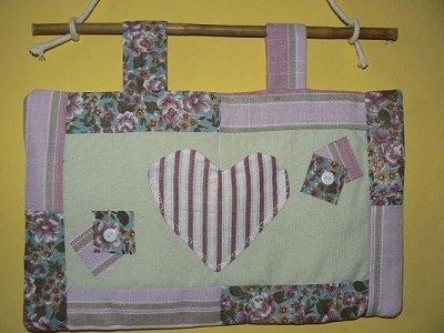 Pannello con cuore in patchwork