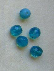 lotto  10  perline in mezzo cristallo    da 12 mm.