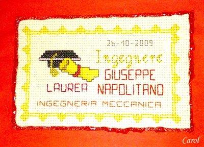 """Quadretto """"Laurea"""" small - biglietto d'auguri"""