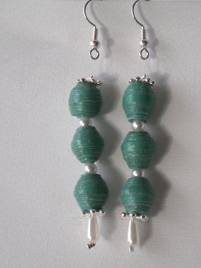 orecchini tri verdi