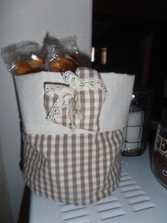Cestino in tessuto stile country per la cucina - Feste - Idee rega ...