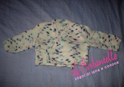 Scaldacuore neonata fatto a mano in lana (1-3 mesi)