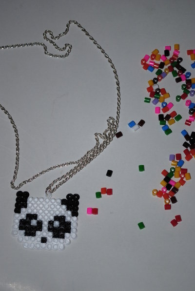 collana pyssla panda
