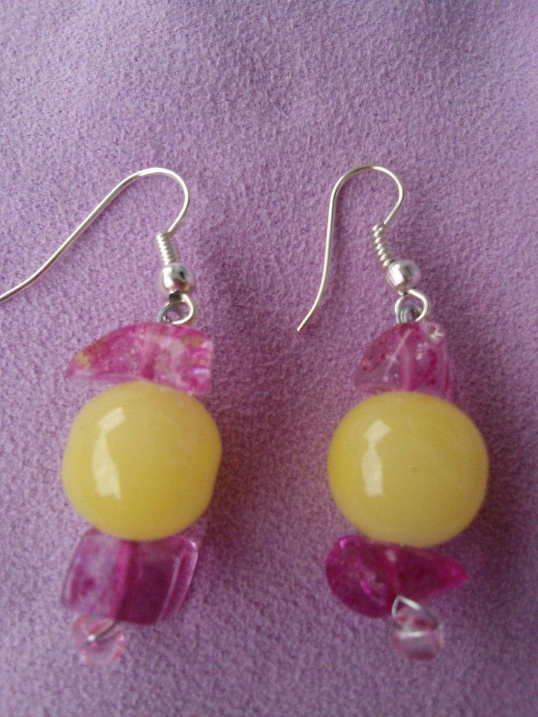 orecchini di vetro
