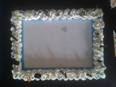 Cornice azzurra 13x18 decorata.
