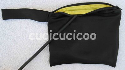"borsa impermeabile s ""nero di sera"" / small wet bag ""evening black"""