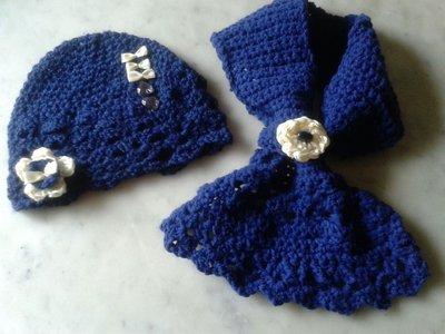 coordinato cappello sciarpa bimba