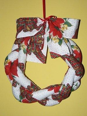 Ghirlanda natalizia in patchwork