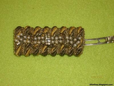 Fermacapelli in passamaneria dorata