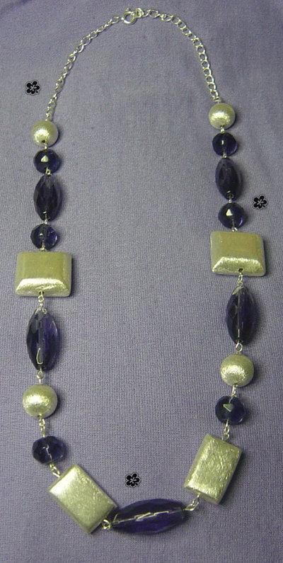 Collana argento e viola