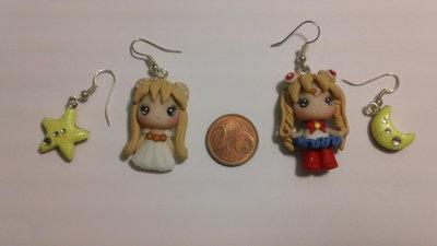 2 paia di orecchini in fimo