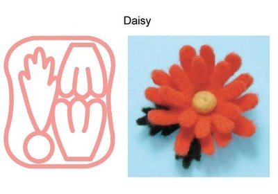 Stampo Needle Felting Applique Mold Daisy