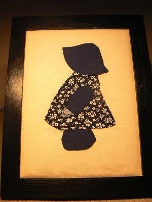 Quadro stile patchwork con bambina modello holly hobbie.