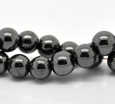 4 perle in ematite 8 mm dia scontato