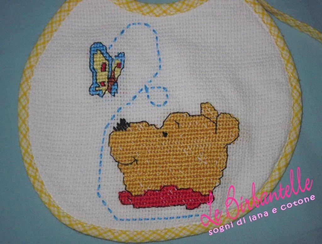 """Bavaglino neonato """"Winnie the Pooh"""""""