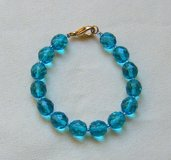 bracciale in mezzo cristallo azzurro da 10 mm
