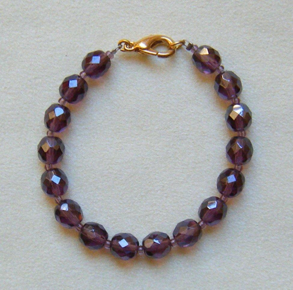bracciale in mezzo cristallo violla da 0,8 mm