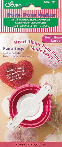 Clover Pom Pom Maker Cuore Large