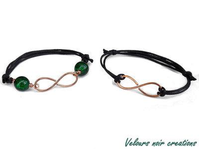 bracciale simbolo infinito rame creati a mano con tecnica wire