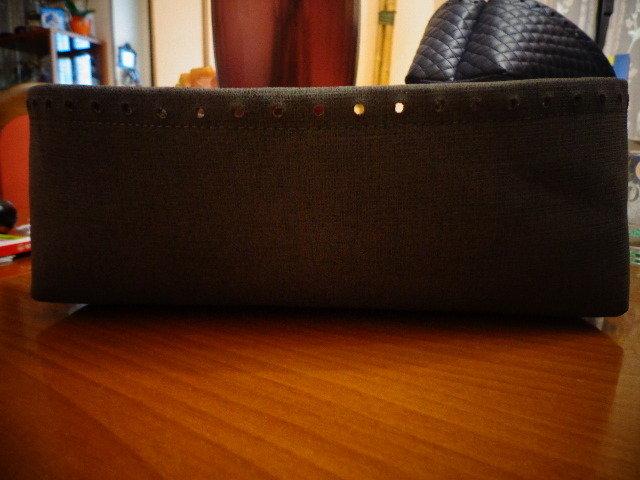 Fondo alto ecopelle grigia per borse in fettuccia