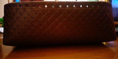 Fondo alto ecopelle marrone per borse in fettuccia