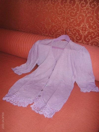giacchino donna tg 44/46 cotone lilla