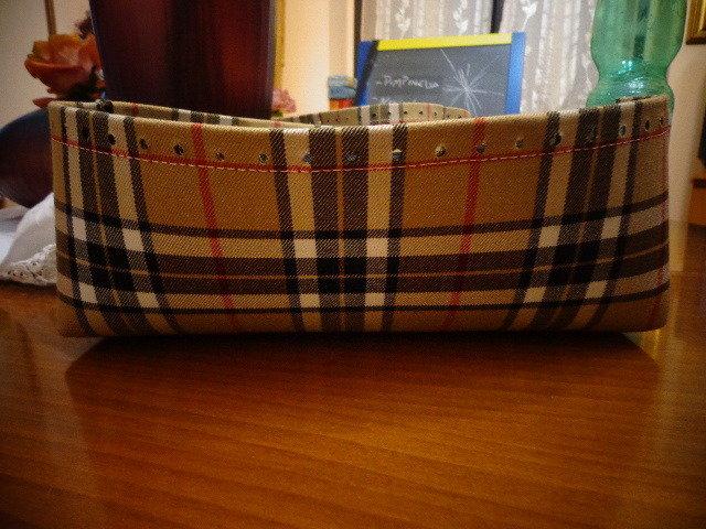 Fondo alto tessuto lana scozzese per borse in fettuccia