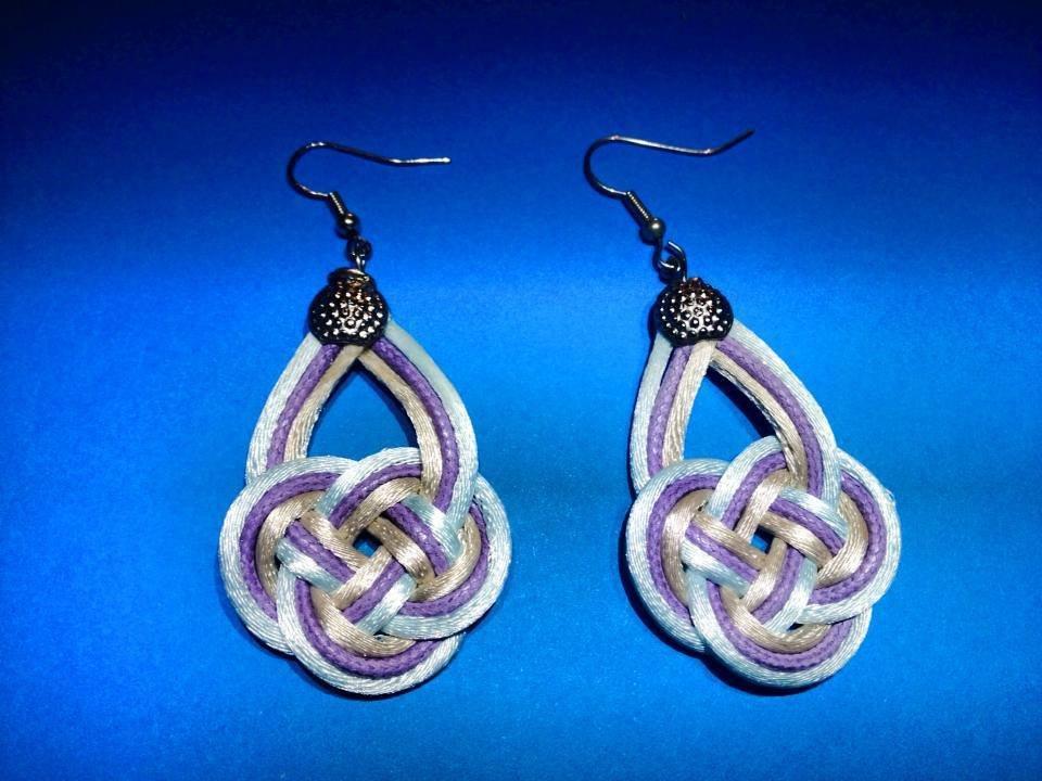 orecchini con nodo celtico