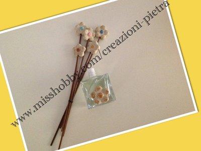 Fiorellini in pietra decoro profumatori